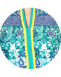 Stylish Floral Printed Blue Kurti For Women