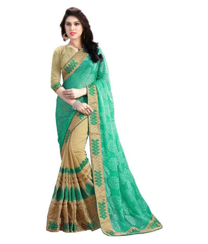 fs-11-designer-georgette-festival-sarees-heavy-embroidered-work-festival-sarees-with-plain-blouse-piece