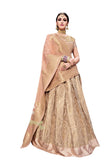 Latest Lehenga Choli Peach Color Machine Embroidery & Jari Work Lehenga Choli
