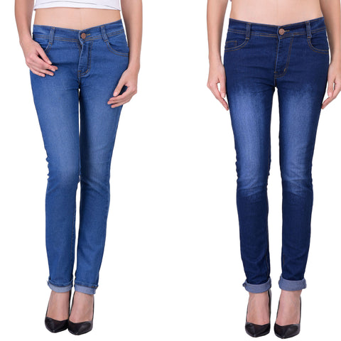 London-Looks-Blue-Denim-Lycra-Jeans