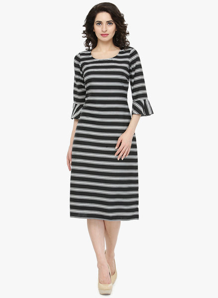 black-&-white-coloured-striped-pattern-shift-dress-designer-dresses-sft18