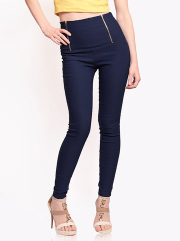 Miss-Chase-Women-Navy-Retro-Treggings