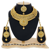 Neck Jewelry Stone Work Golden Bridal Jewelry For Women