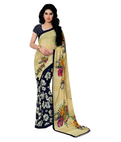 Holi Special Multicoloured Casual Wear Printed Georgette Saree