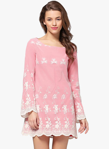 pink-embroidered-shift-dress-designer-full-sleeves-midi-dress-sft12