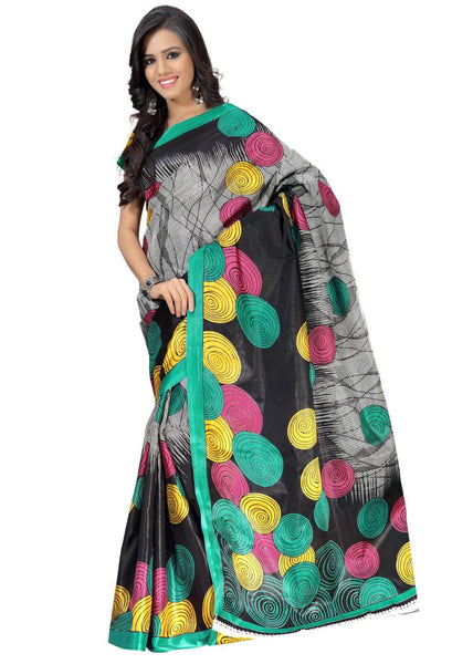 Shop Online Bollywood Black Printed Saree For Women