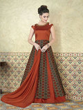 Party Wear Anarkali Suits Multi Color Gown Style Floor Length Printed Salwar Suit