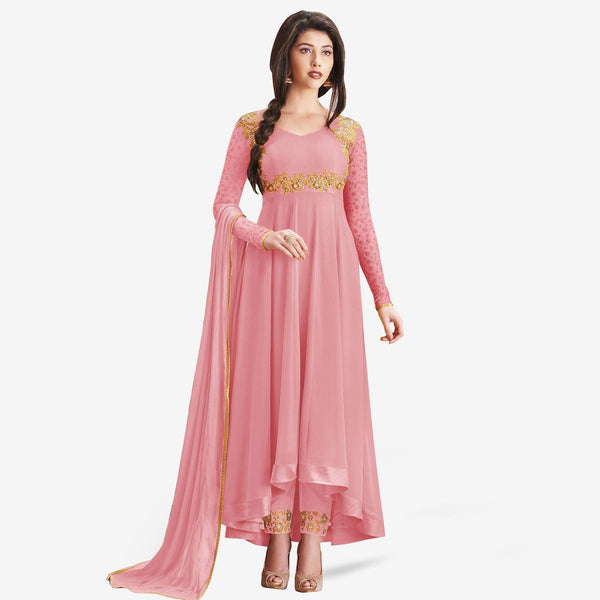 Partywear Embroidered Georgette Anarkali Suit