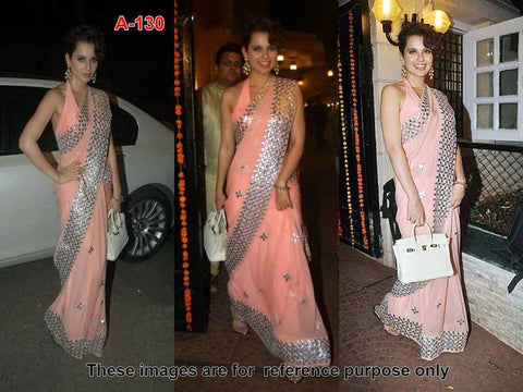 trendy-kangana-ranaut's-light-pink-bollywood-chiffon-sarees-with-silver-embroidery-work-bollywood-sarees