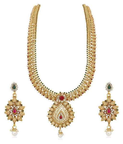 Festive Party Collection New Fashions Golden Necklace Set