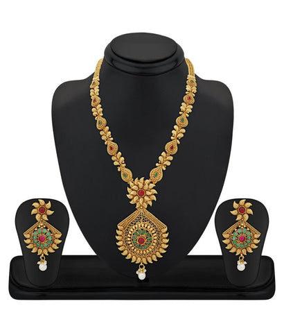 Festival Special Jewelry Collection New Fashions Multicolour Necklace Set