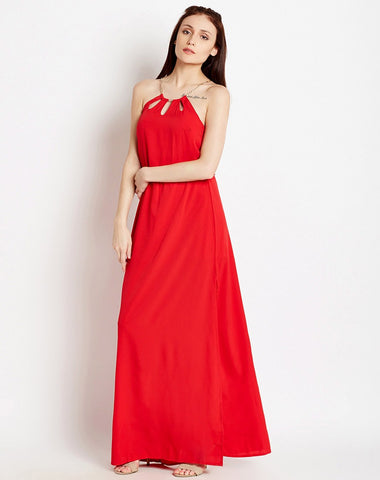 Maxi Dress Red Cutout Maxi Dress Party Dresses For Valentine's Day
