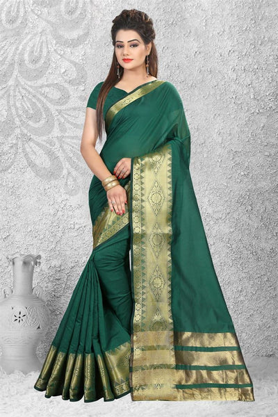 Urban-Naari-21751-Maroon-Cotton-Silk-Zari-Embroidered-Saree