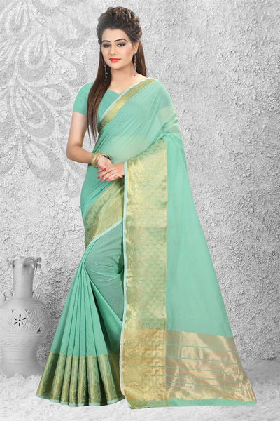Urban-Naari-21753-Pink-Designer-Cotton-Silk-Zari-Embroidered-Saree