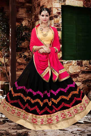 Urban-Naari-Green-Colored-Georgette-Heavy-Embroidered-Semi-Stitched-Lehenga-Choli