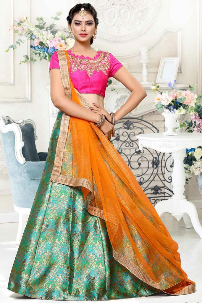 207bdf3327 Buy Now Designer A- Line Chaniya Choli With Embroidery & Paisely Work –  Lady India