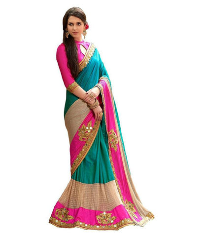 fs-12-festival-sarees-multicoloured-silk-saree-heavy-embroidered-work-with-embroidered-blouse-piece