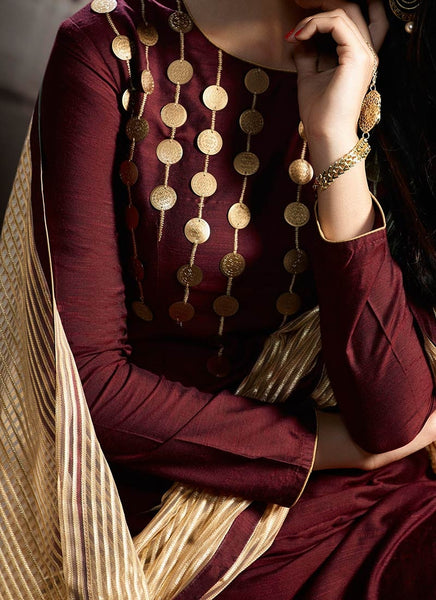 5c327cc0b1e Sharara Suits Online Maroon Palazzo Style Party Wear Sharara Suits – Lady  India