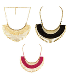 Festive Party Special Jewelry New Design Handicrafts Multicolour Necklace - Set of 3