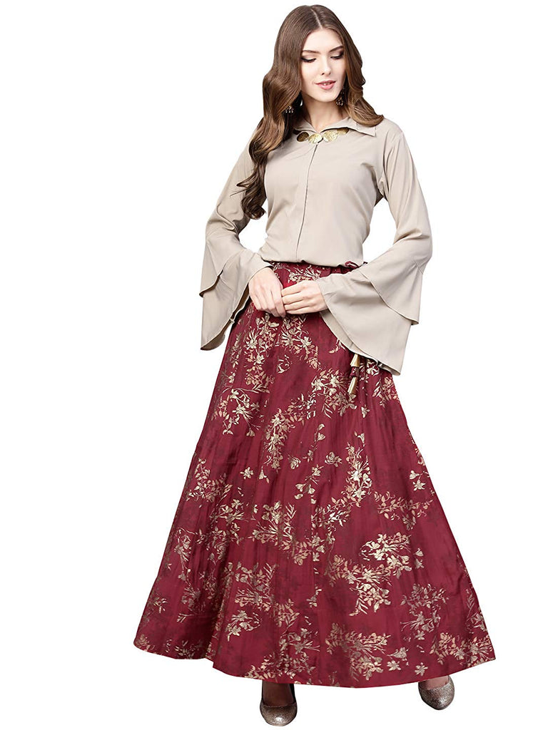 2b308a365 Top With Long Skirt Set | Buy Long Skirts with Shirt Top for Women Online | Crop  Top and Long Skirt | Top And Skirt Set Ethnic Sets | Dresses – Lady India