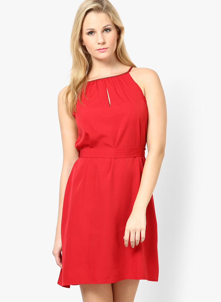 c14531417c3c Buy Now Online Red Colored Solid Shift Dress Designer Off Shoulder Dresses  For Women SFT15 – Lady India