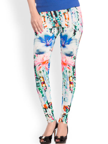 Printed Leggings Designer Multicolor Ankle-Length Leggings LS35