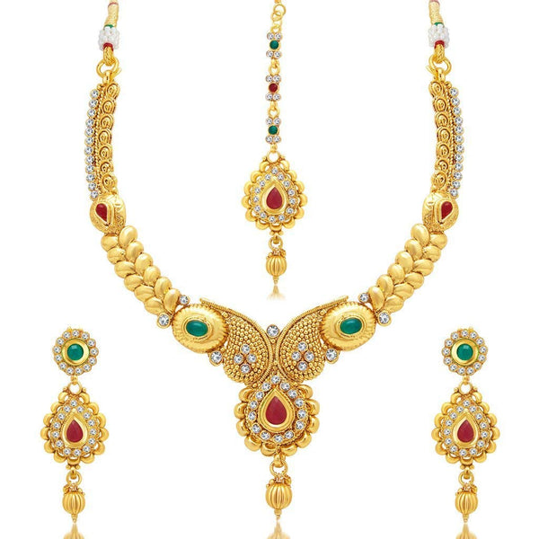 Traditional Design Gold Necklace Set - Jewellery Sets for Women