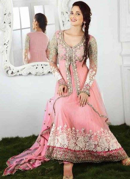 Dresses for Women New Arrival Salwar Suit Pink Designer Anarkali Suit