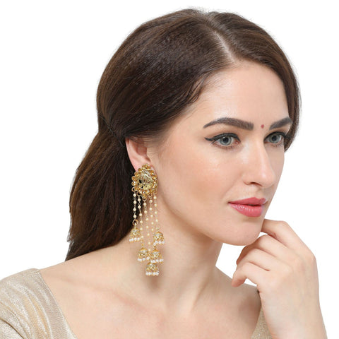 Trendy Earrings With Jhumka Hangings Earrings For Girls