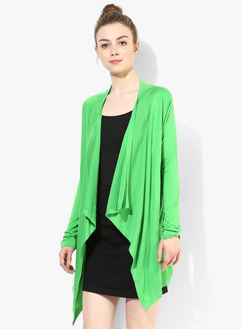 Latest Green Color Fancy Full Sleeves Shrug