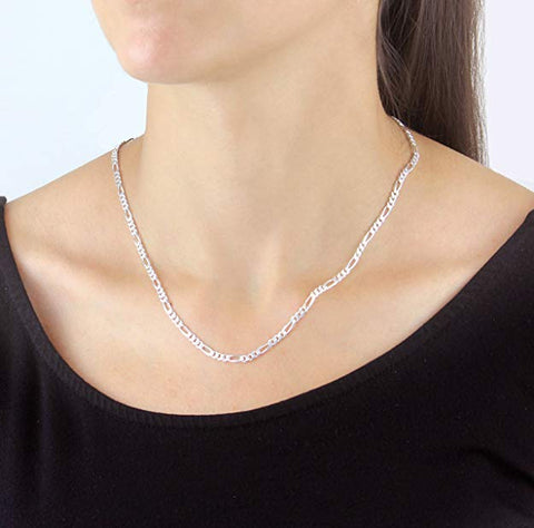 Shyama Figaro Chain in Sterling Silver Design Italian Silver Chain