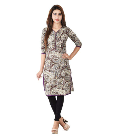 Latest Multicolor Simple Cotton Kurtis Casual Straight Long Cotton Kurtis