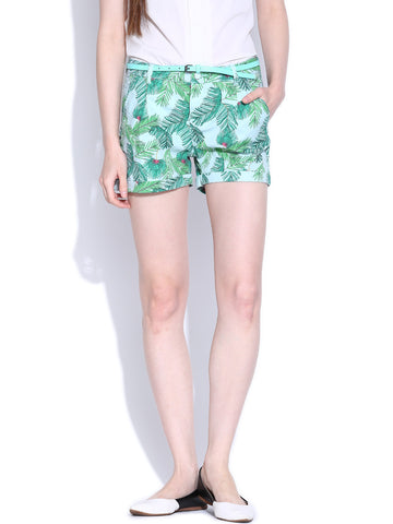 Vero-Moda-Light-Blue-Printed-Shorts-Women-Western-Wear