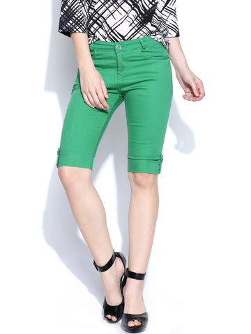 Xpose-Green-Shorts-Women-Western-Wear