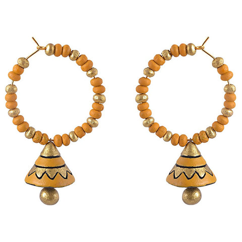 Terracotta Earrings Yellow Terracotta Designer Earrings Bali Jhumkas Terracotta Jewellery Online Shopping