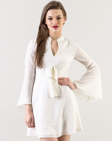 designer-dresses-white-kimono-sleeves-style-full-sleeves-skater-dress