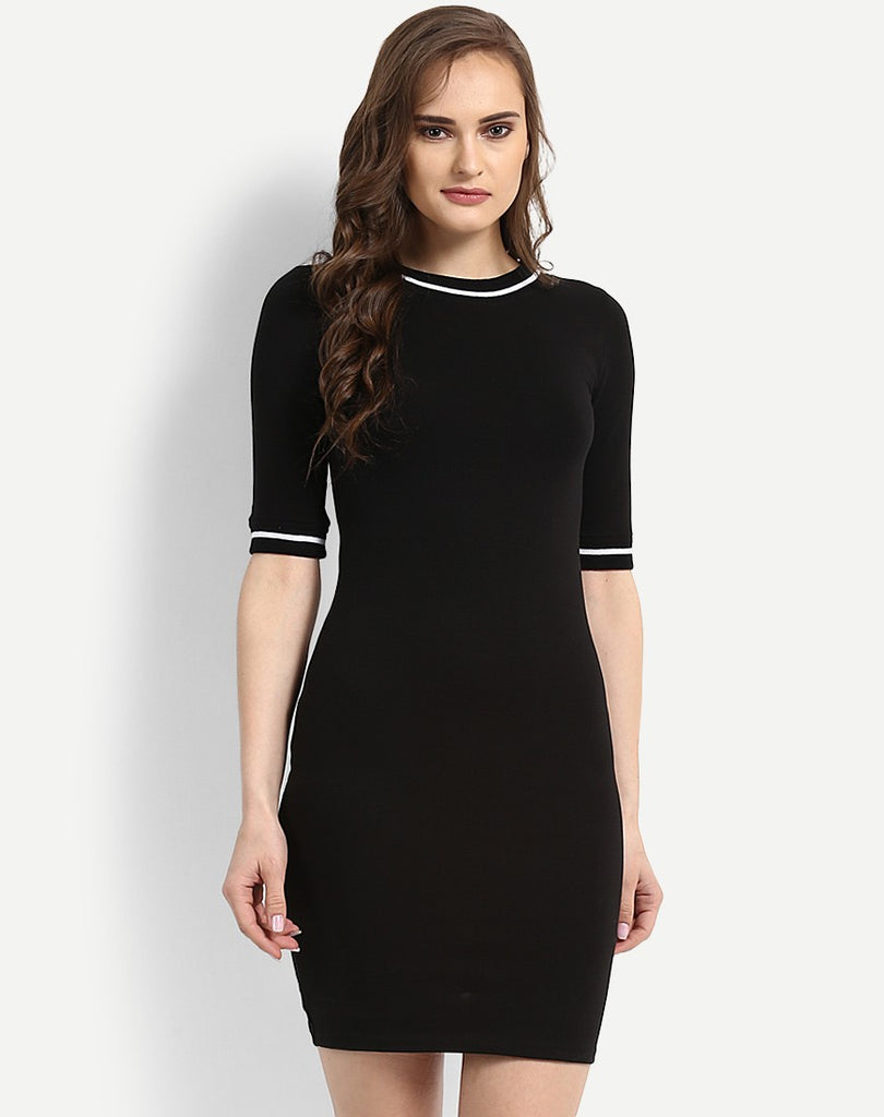 fd587dd99145 Purchase Online Black Bodycon Dress Long Sleeve Style Bodycon Midi Dress –  Lady India