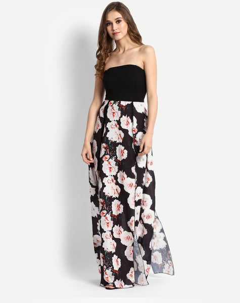black-rose-floral-off-shoulder-maxi-dress