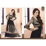 New Fashion Design Black Show Stopper 3 Malaika Wedding Wear- Designer Ethnic Collection Anarkali Sharara Suit