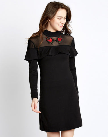 designer-black-tremora-embroidered-shift-dress-sft01