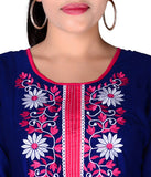 Occasional Embroidered Stylish Anarkali Blue Kurti For Women