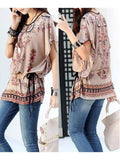 Designer Floral Print Bohemian Style Tops