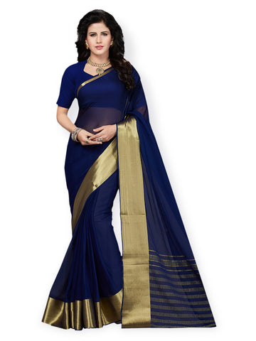 Blue Color Wedding Saree