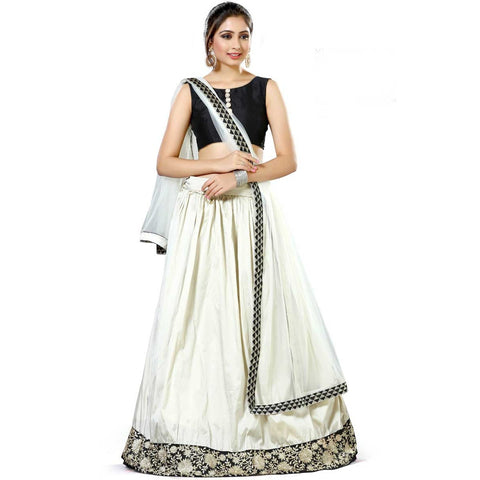 Banglori Silk Heavy Embroidered Semi Stitched Lehenga Choli Ghagra Choli