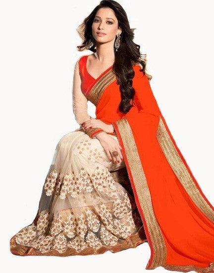 Shop Online Embroydery Saree With Blouse For Women