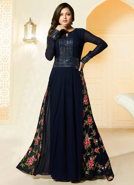 Designer-Anarkali-Suit-Tikki-Worked-Black-Georgette-Anarkali-Suit