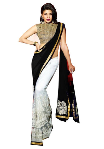 exclusive-designer-bollywood-sarees-black-&-white-jacqueline-fernandez's-bollywood-saree-for-women