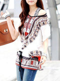 Latest Designer Exotic Print Batwing Top - Women Wear