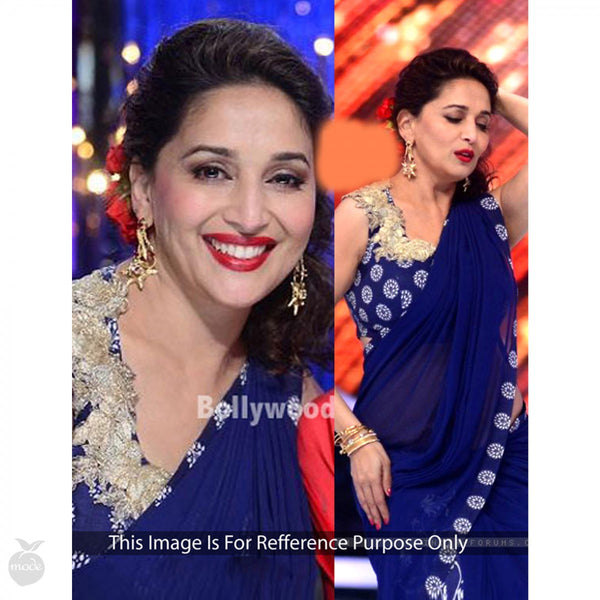 dark-blue-madhuri-dixit's-embroidered-&-printed-work-party-wear-bollywood-sarees