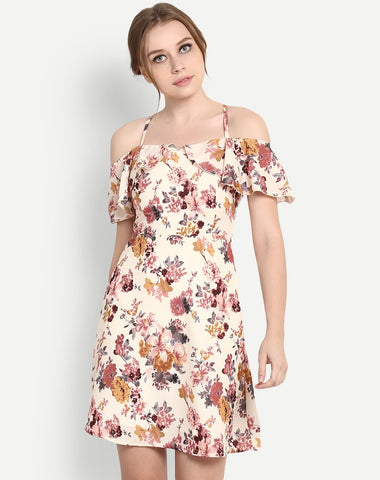 designer-dress-floral-dress-cold-shoulder-skater-dress-midi-dress